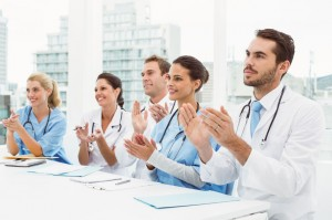 applauding doctors