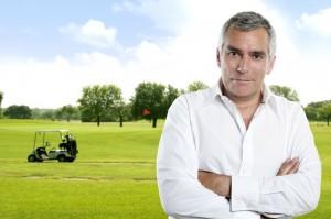 hospital administrator golfing