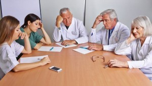 hospital staff meeting
