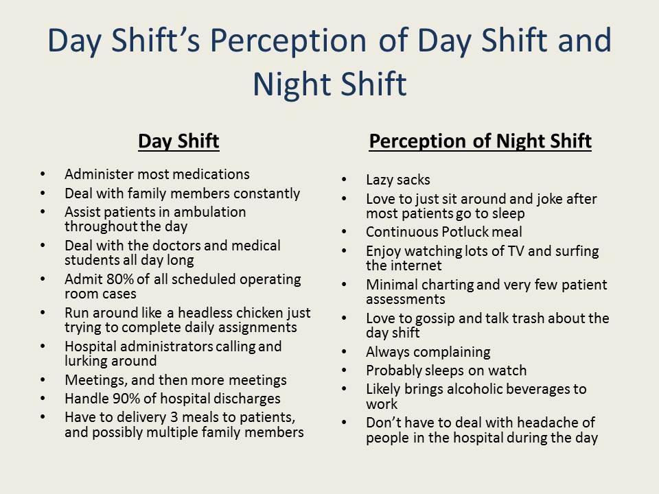 dayshift vs nightshift hospital workers