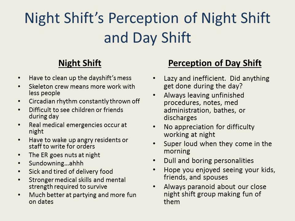 nightshift vs dayshift