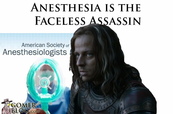 Anesthesia [The Faceless Assassin] - Before your patients get to know you, you knock them out