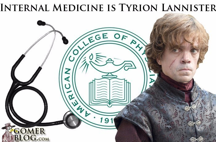 Internal Medicine [Tyron] - Quick witted and a strong intellect. Unfortunately you are always dumped on.