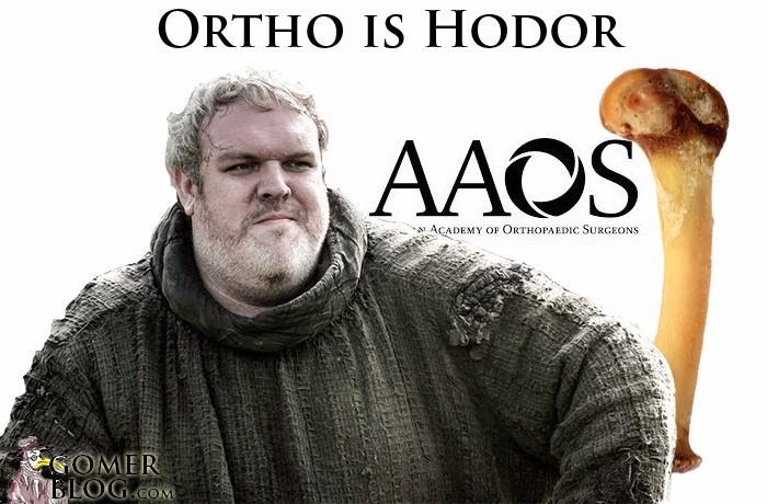 Bone, cut. Hodor