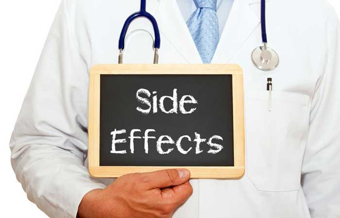 patient asks about side effects gets every single one of them