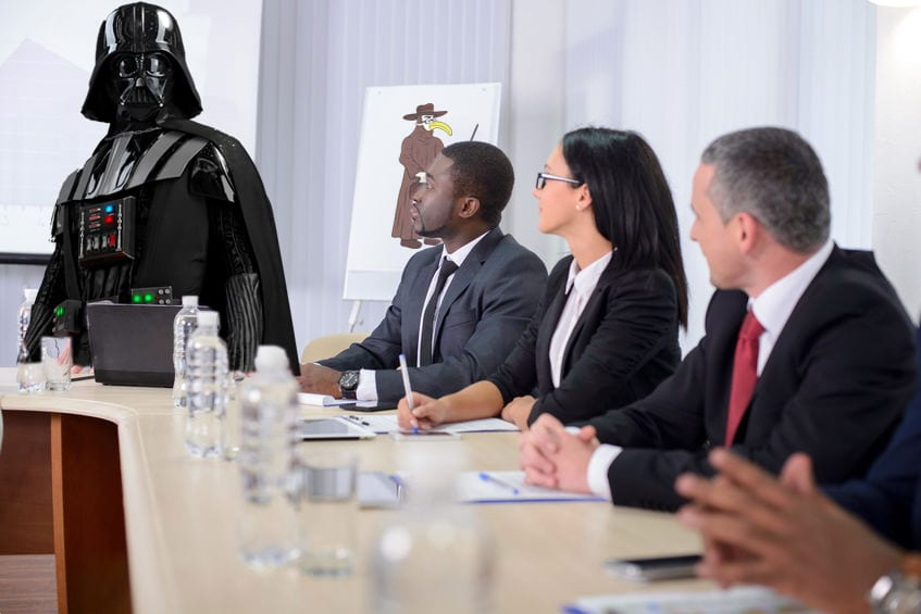 It's comforting to know Darth is well hydrated during these meetings
