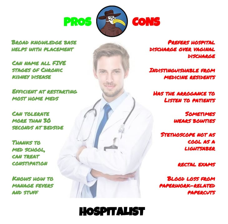 pros and cons of a hospitalist | gomerblog, Human Body