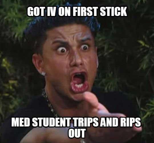 iv first stick