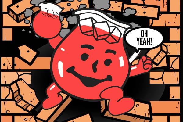 Breaking: Kool-Aid Man Admitted With Severe Fluid ... Hey Kool Aid Videos Breaking Through Walls