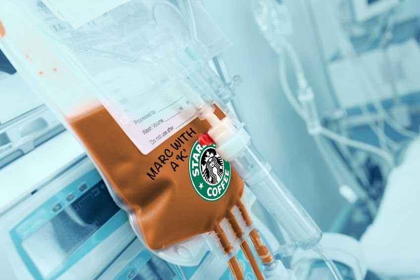 Starbucks Frappuccino drips