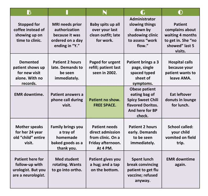 Healthcare Practitioner Bingo Why Should Patients Have