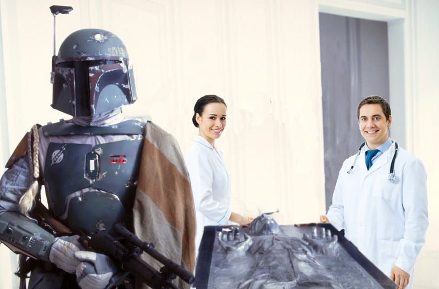 """""""Freeze the patient in carbonite and turf 'em to medicine"""""""