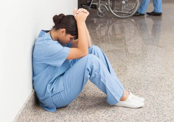 Nurse entering thirty-sixth hour trapped in med room trying to return med to pyxis