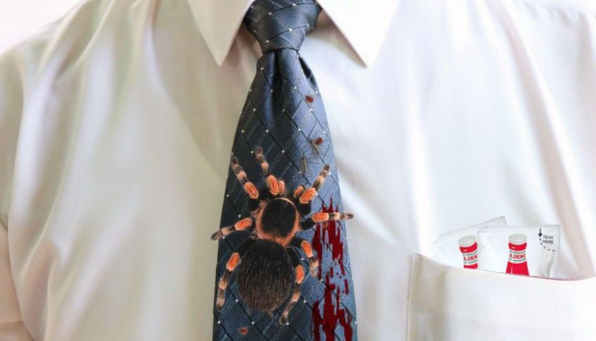 necktie colonized tarantulas