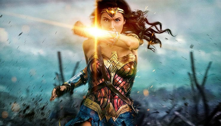 Under Fire Wonder Woman Uses Her Indestructible Bracelets To