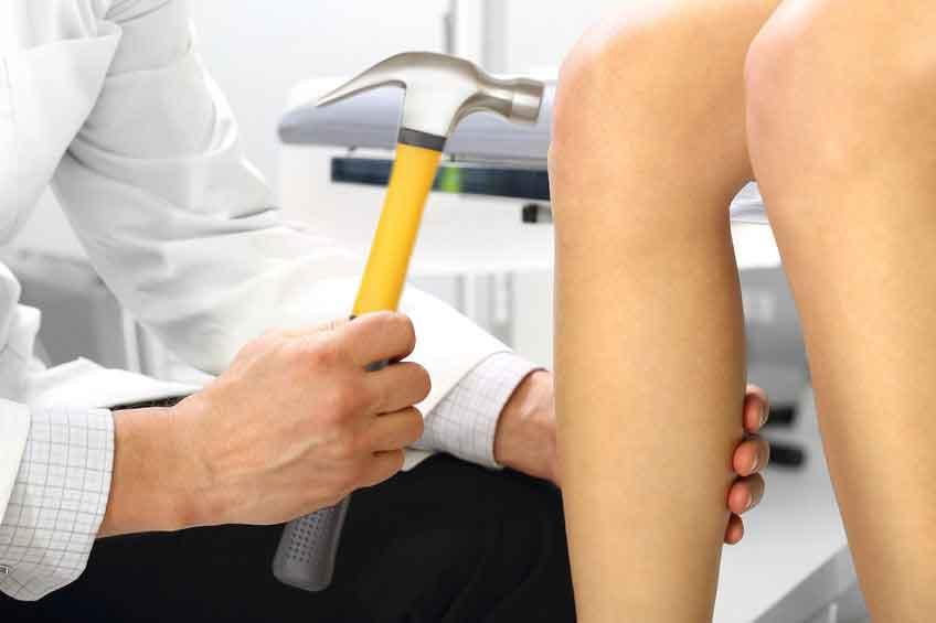Negligent Neurologist Tests Reflexes with Regular Hammer
